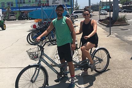 Pleasure Island Rentals Tandem Bike